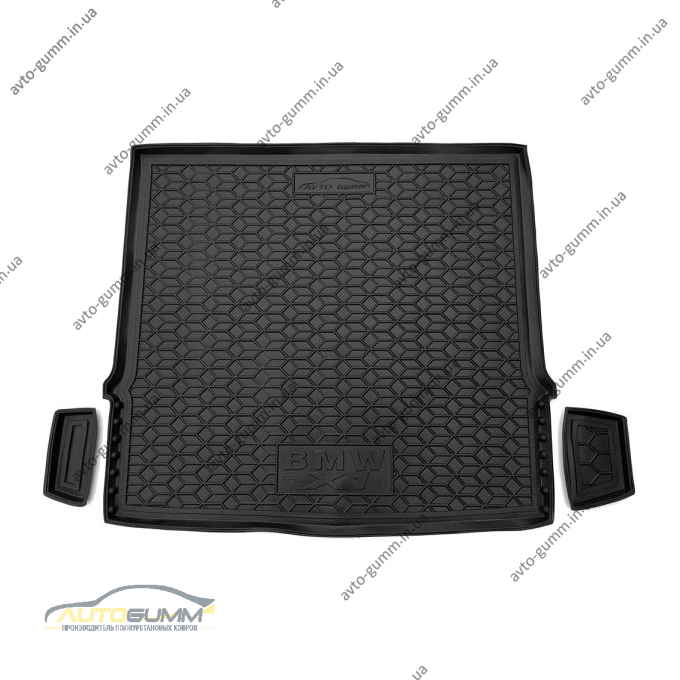 Автомобильный коврик в багажник BMW X1 (E84) 2008-2014 (Avto-Gumm)