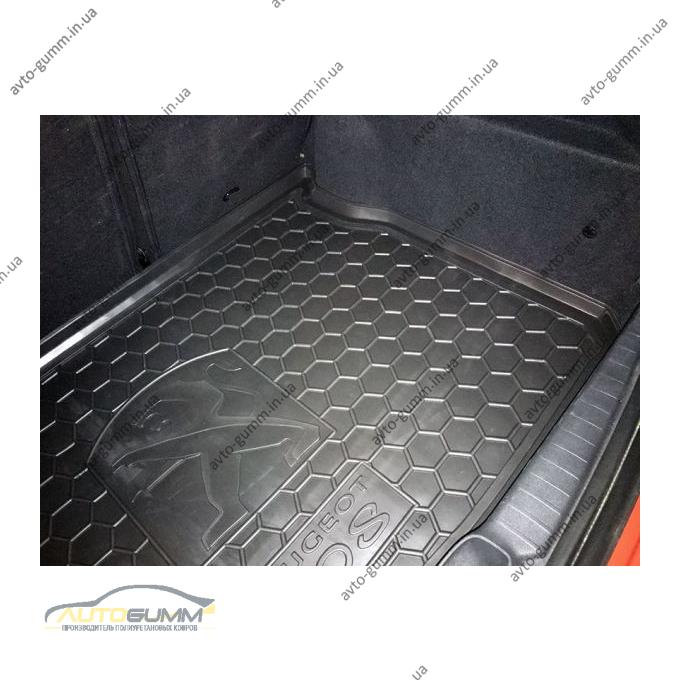 Автомобильный коврик в багажник Peugeot 208 2013- (Avto-Gumm)