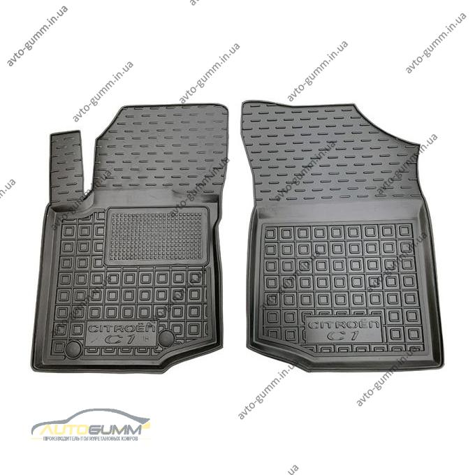 Передние коврики в автомобиль Citroen C1 2014- (Avto-Gumm)