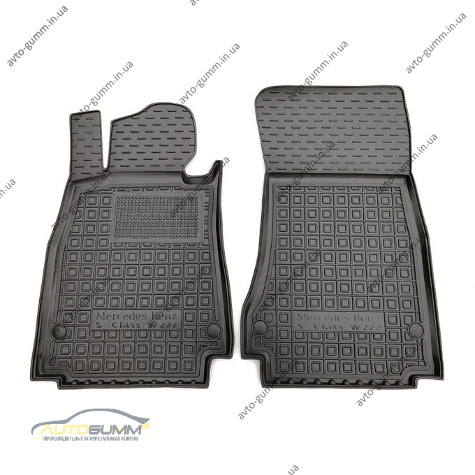 Передние коврики в автомобиль Mercedes S (W222) 2013- long/short (Avto-Gumm)