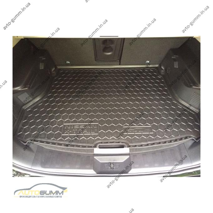 Автомобильный коврик в багажник Nissan X-Trail (T32) 2014-2017 (Avto-Gumm)