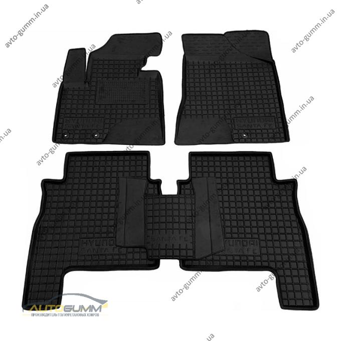 Автомобильные коврики в салон Hyundai Santa Fe 2010-2012 (Avto-Gumm)