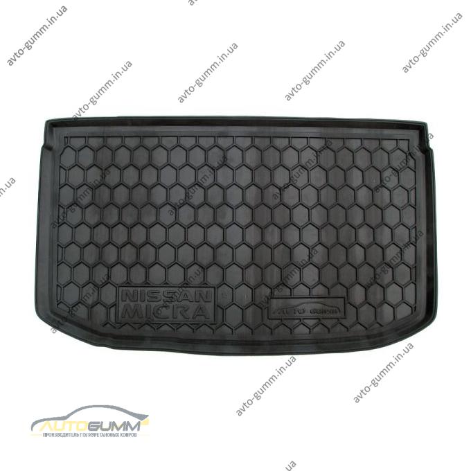 Автомобильный коврик в багажник Nissan Micra (K13) 2010- (Avto-Gumm)