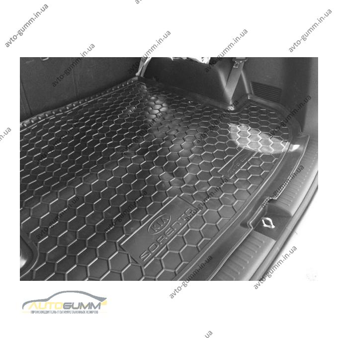 Автомобильный коврик в багажник Kia Sorento 2015- (7 мест) (Avto-Gumm)