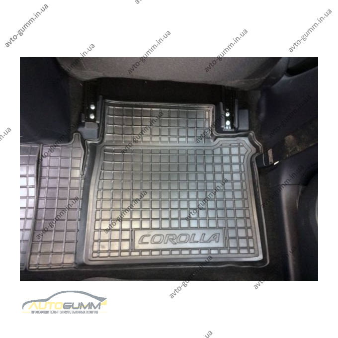 Автомобільні килимки в салон Toyota Corolla 2013-2019 (Avto-Gumm)