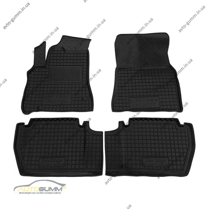 Автомобильные коврики в салон Citroen Berlingo 08-/Peugeot Partner 08- с подлокотником (Avto-Gumm)