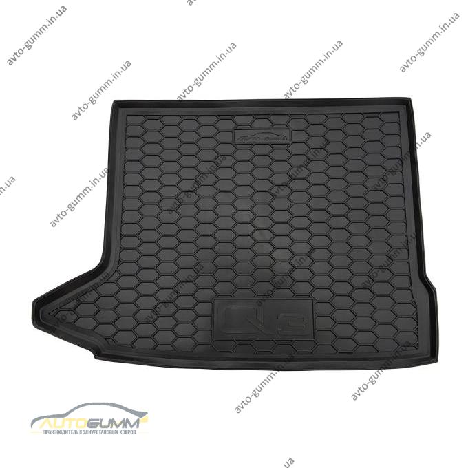 Автомобильный коврик в багажник Audi Q3 2011- (Avto-Gumm)
