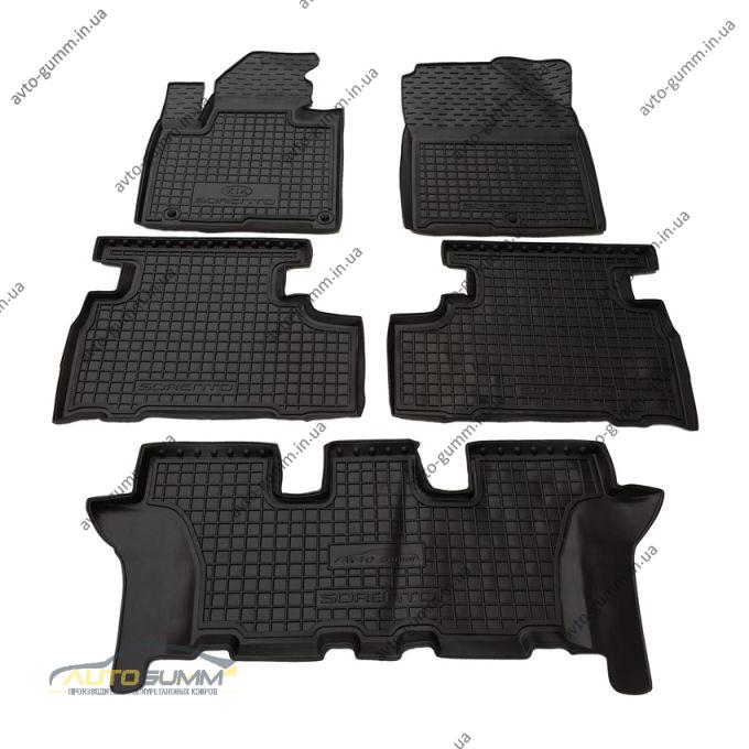 Автомобильные коврики в салон Kia Sorento 2015- (7 мест) (Avto-Gumm)