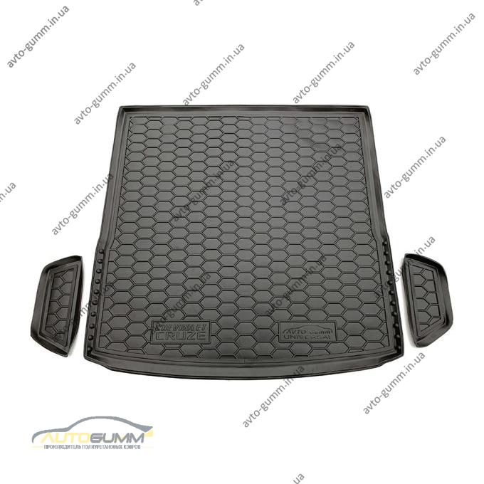 Автомобильный коврик в багажник Chevrolet Cruze 2009- Universal (Avto-Gumm)