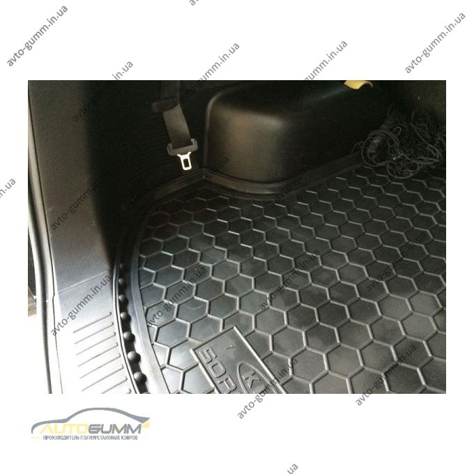 Автомобильный коврик в багажник Kia Sorento 2009-2015 (7 мест) (Avto-Gumm)