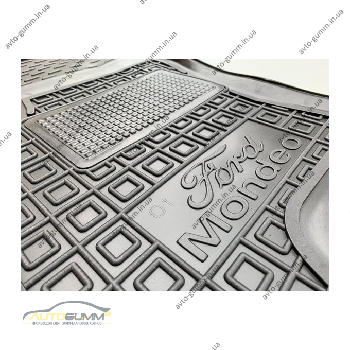 Водительский коврик в салон Ford Mondeo 3 2000-2007 (Avto-Gumm)