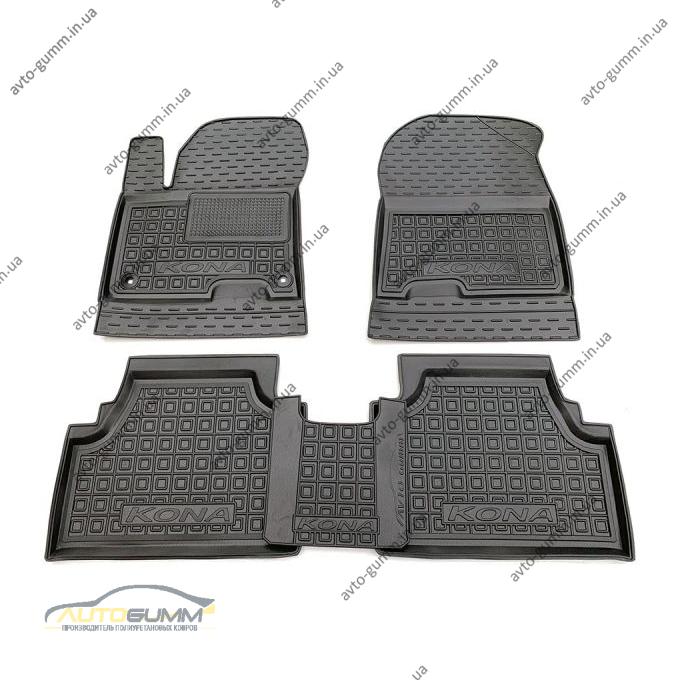 Автомобильные коврики в салон Hyundai Kona 2019- Electric (Avto-Gumm)
