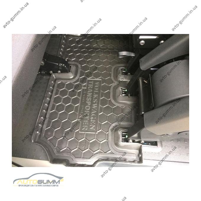 Автомобильные коврики в салон Volkswagen T5 Caravelle 2010- (3-й ряд) с печкой (Avto-Gumm)