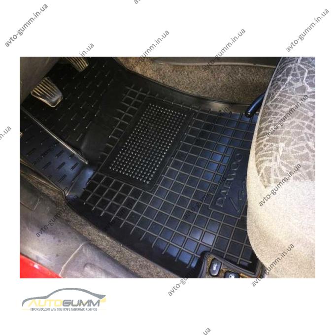 Водительский коврик в салон Daewoo Lanos 1996- (Avto-Gumm)