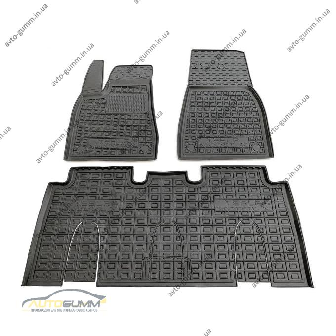 Автомобильные коврики в салон Tesla Model X 2016- 5 мест (Avto-Gumm)