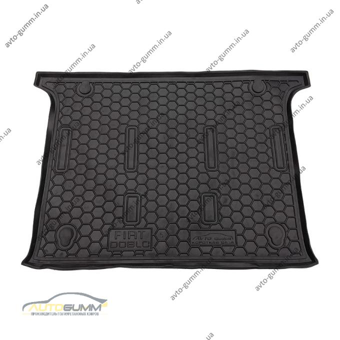 Автомобильный коврик в багажник Fiat Doblo 2010- 5 мест (Avto-Gumm)