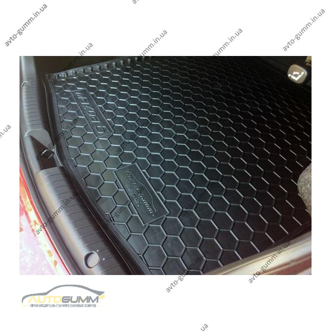 Автомобильный коврик в багажник Mazda 6 2013- Sedan (Avto-Gumm)