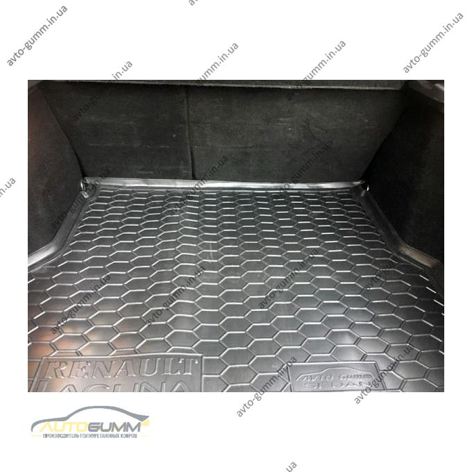 Автомобильный коврик в багажник Renault Laguna 2 2001- Sedan (Avto-Gumm)