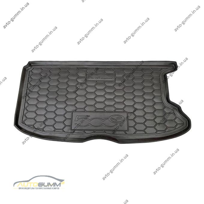 Автомобильный коврик в багажник Fiat 500e (electric) (Avto-Gumm)