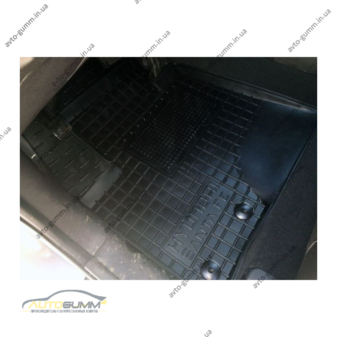 Водительский коврик в салон Hyundai Santa Fe 2010-2012 (Avto-Gumm)