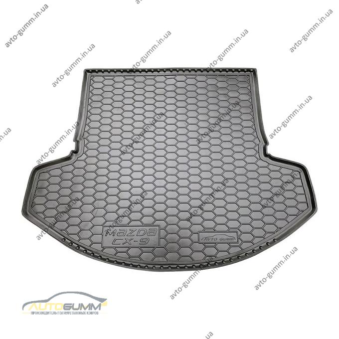 Автомобильный коврик в багажник Mazda CX-9 2018- (Avto-Gumm)