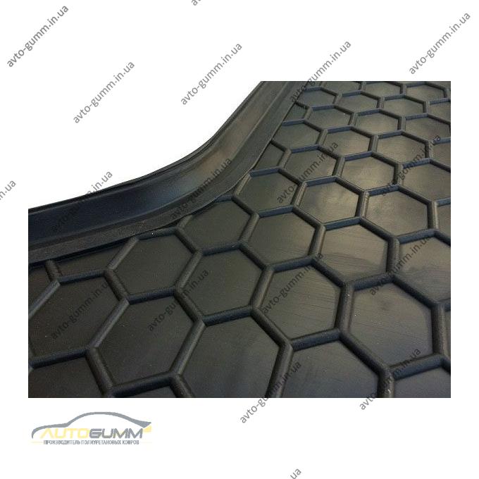 Автомобильный коврик в багажник Kia Carens 2013- (7 мест) (Avto-Gumm)