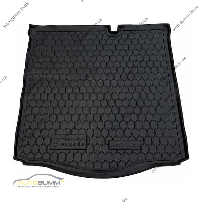 Автомобильный коврик в багажник Citroen C-Elysee 2013- (Avto-Gumm)