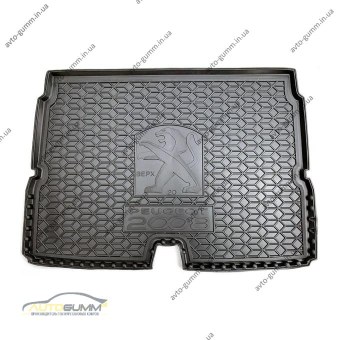 Автомобильный коврик в багажник Peugeot 2008 2020- верхняя полка (Avto-Gumm)