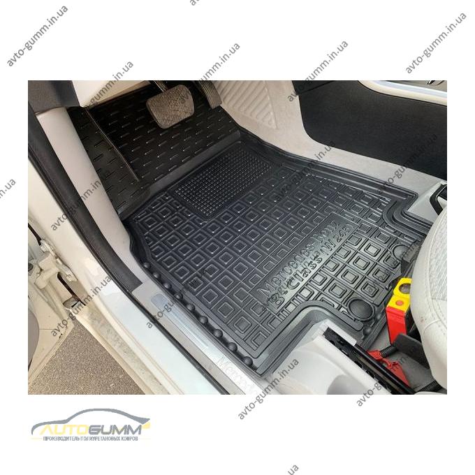 Передние коврики в автомобиль Mercedes B (W245) 2005-2011 (Avto-Gumm)