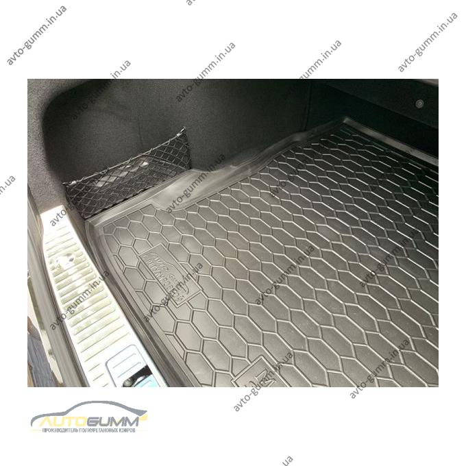 Автомобильный коврик в багажник Mercedes S (W222) 2013- c регулировкой сидений (Avto-Gumm)