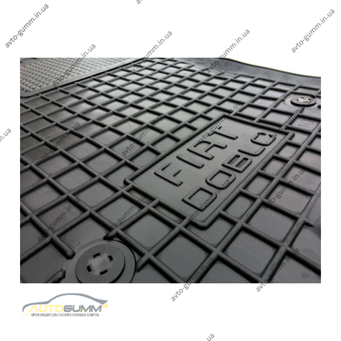 Водійський килимок в салон Fiat Doblo 2010- (Avto-Gumm)