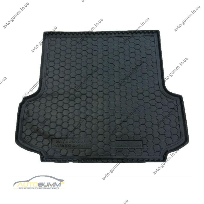 Автомобильный коврик в багажник Mitsubishi Pajero Sport 2 2008- (Avto-Gumm)