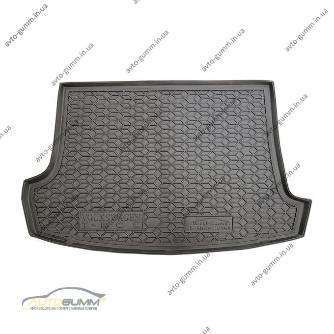 Автомобильный коврик в багажник Volkswagen T-Roc 2017- (верхняя полка) (Avto-Gumm)