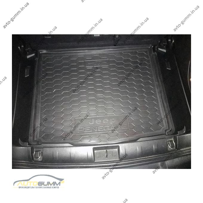 Автомобильный коврик в багажник Jeep Renegade 2015- нижняя полка (Avto-Gumm)