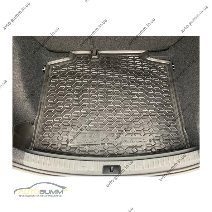 Автомобильный коврик в багажник Skoda Scala 2020- (Avto-Gumm)