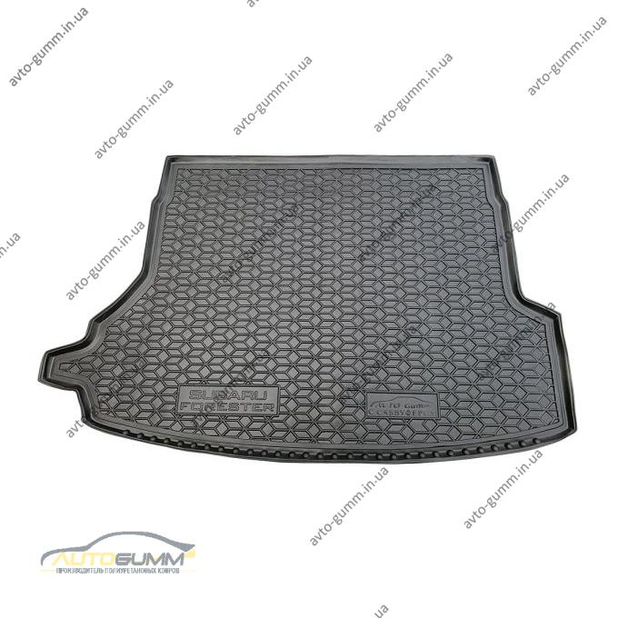 Автомобильный коврик в багажник Subaru Forester 5 2018- с сабвуфером (Avto-Gumm)
