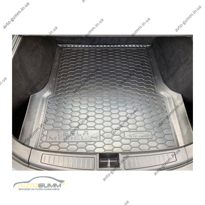 Автомобильный коврик в багажник Tesla Model S 2012- (Avto-Gumm)