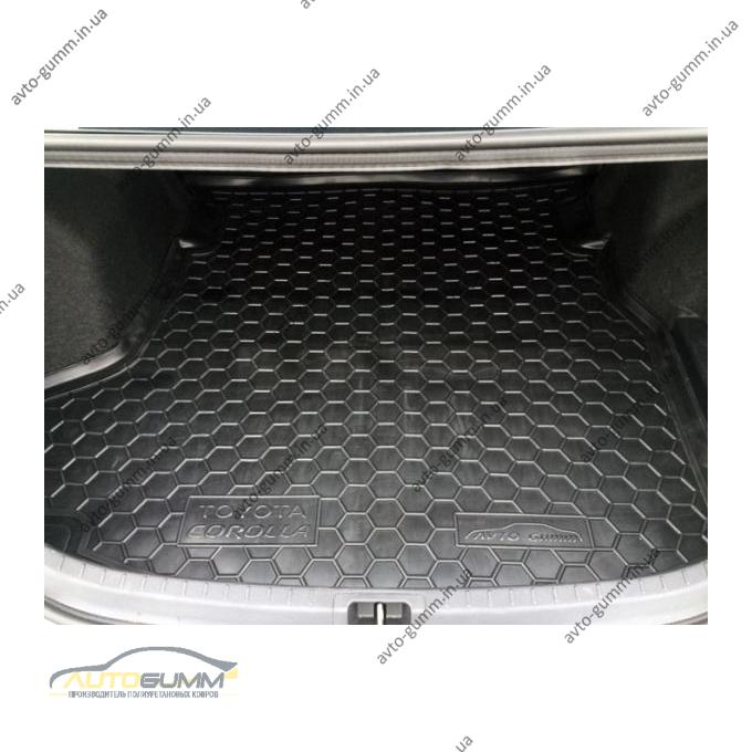 Автомобильный коврик в багажник Toyota Corolla 2013-2019 (Avto-Gumm)