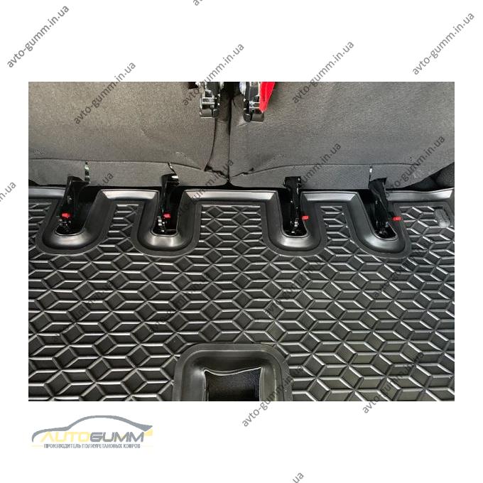 Автомобильный коврик в багажник Renault Lodgy 2018- раздел. 3-й ряд (Avto-Gumm)