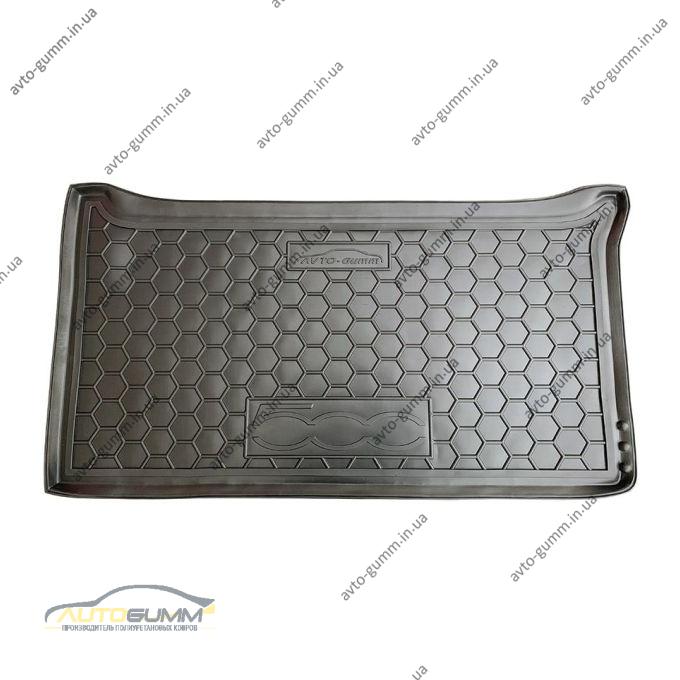 Автомобильный коврик в багажник Fiat 500 2007- (Avto-Gumm)