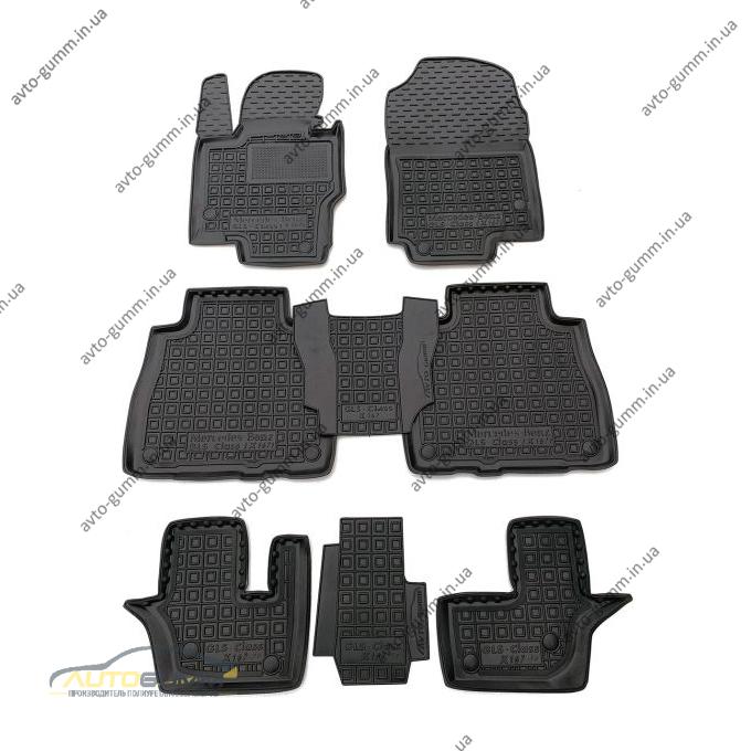 Автомобильные коврики в салон Mercedes GLS (X167) 2019- 7 мест (AVTO-Gumm)
