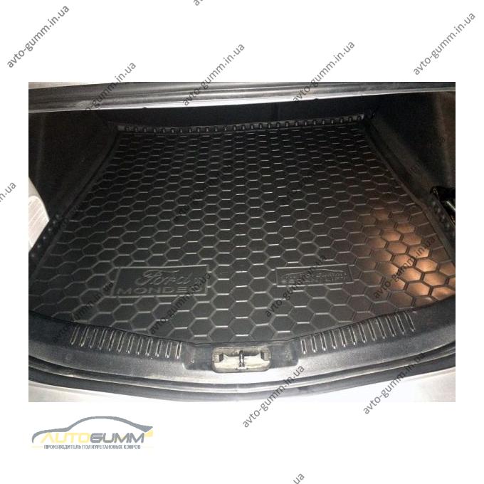 Автомобильный коврик в багажник Ford Mondeo 4 2007- Sd/Hb (полноразмерная запаска) (Avto-Gumm)
