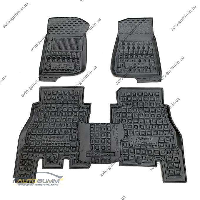 Автомобильные коврики в салон Jeep Wrangler 2018- 4 двери (Avto-Gumm)