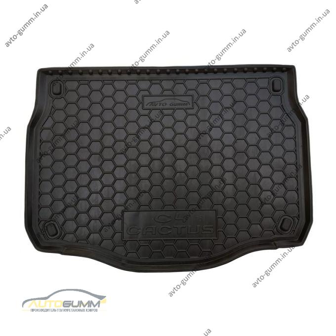 Автомобильный коврик в багажник Citroen C4 Cactus 2015- (Avto-Gumm)