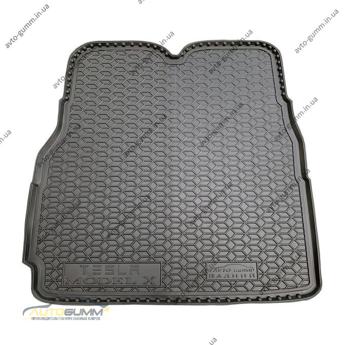 Автомобильный коврик в багажник Tesla Model X 2016- (Avto-Gumm)