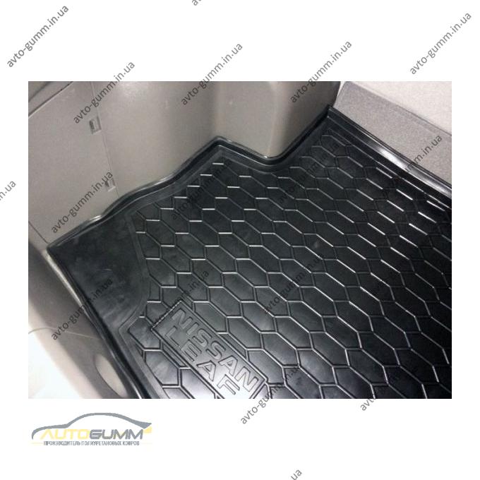Автомобильный коврик в багажник Nissan Leaf 2012-/2018- (без сабвуфера) (Avto-Gumm)