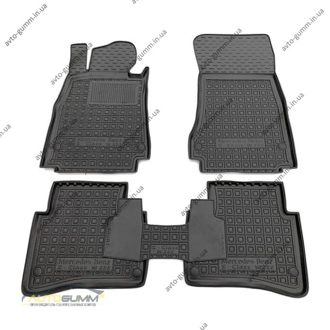 Автомобильные коврики в салон Mercedes S (W222) 2013- short (Avto-Gumm)