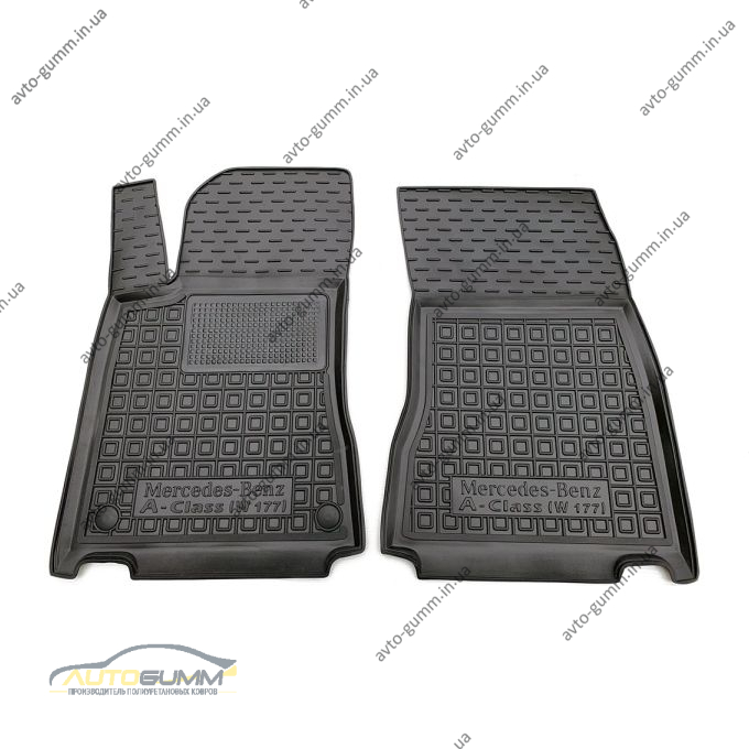 Передні килимки в автомобіль Mercedes A (W177) 2018- (Avto-Gumm)