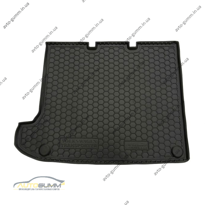 Автомобильный коврик в багажник Volkswagen T5 2010- (удлиненная база без печки) Caravelle (Avto-Gumm)