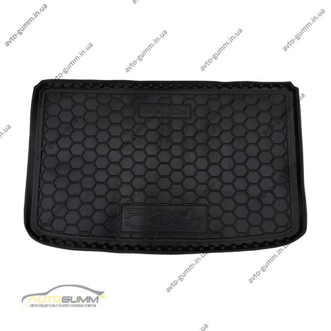 Автомобильный коврик в багажник Fiat 500L 2013- (Avto-Gumm)